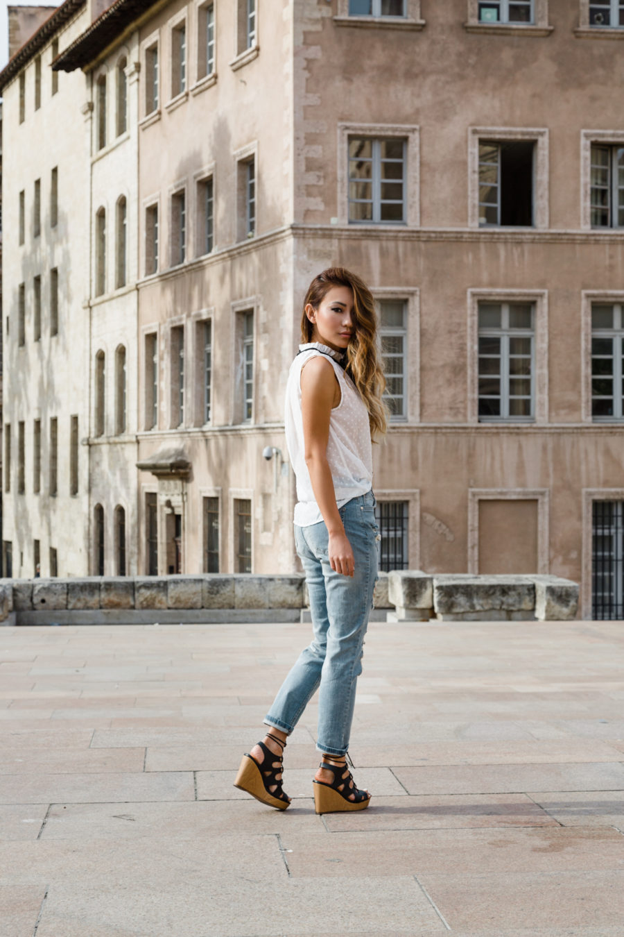 Marseille, Provence, France, XOXO, wedges, Ribbon top, NOTJESSFASHION, NYC, Top Fashion Blogger, Lifestyle Blogger, Travel Blogger
