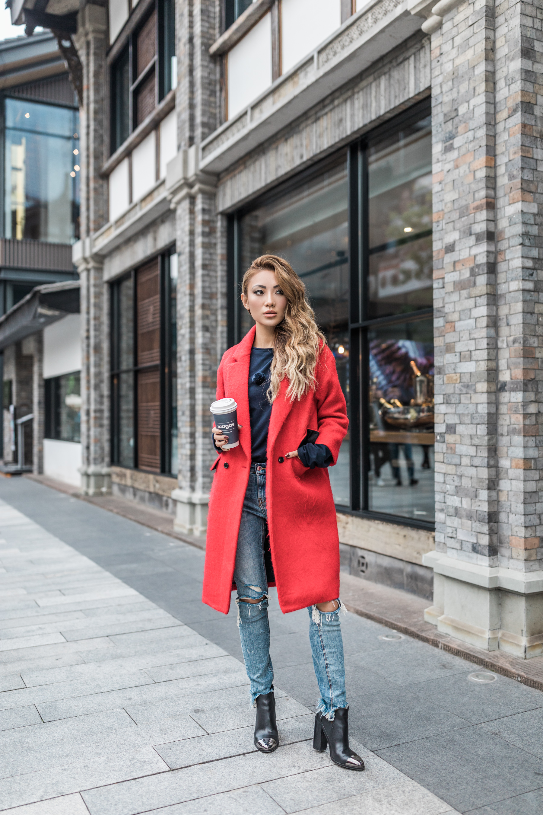 Essential Winter Coats Every Girl Should Own - Red Menswear Coat // NotJessFashion.com