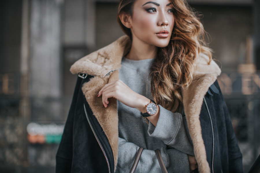 wardrobe staples to update for fall - shearling coat // notjessfashion.com