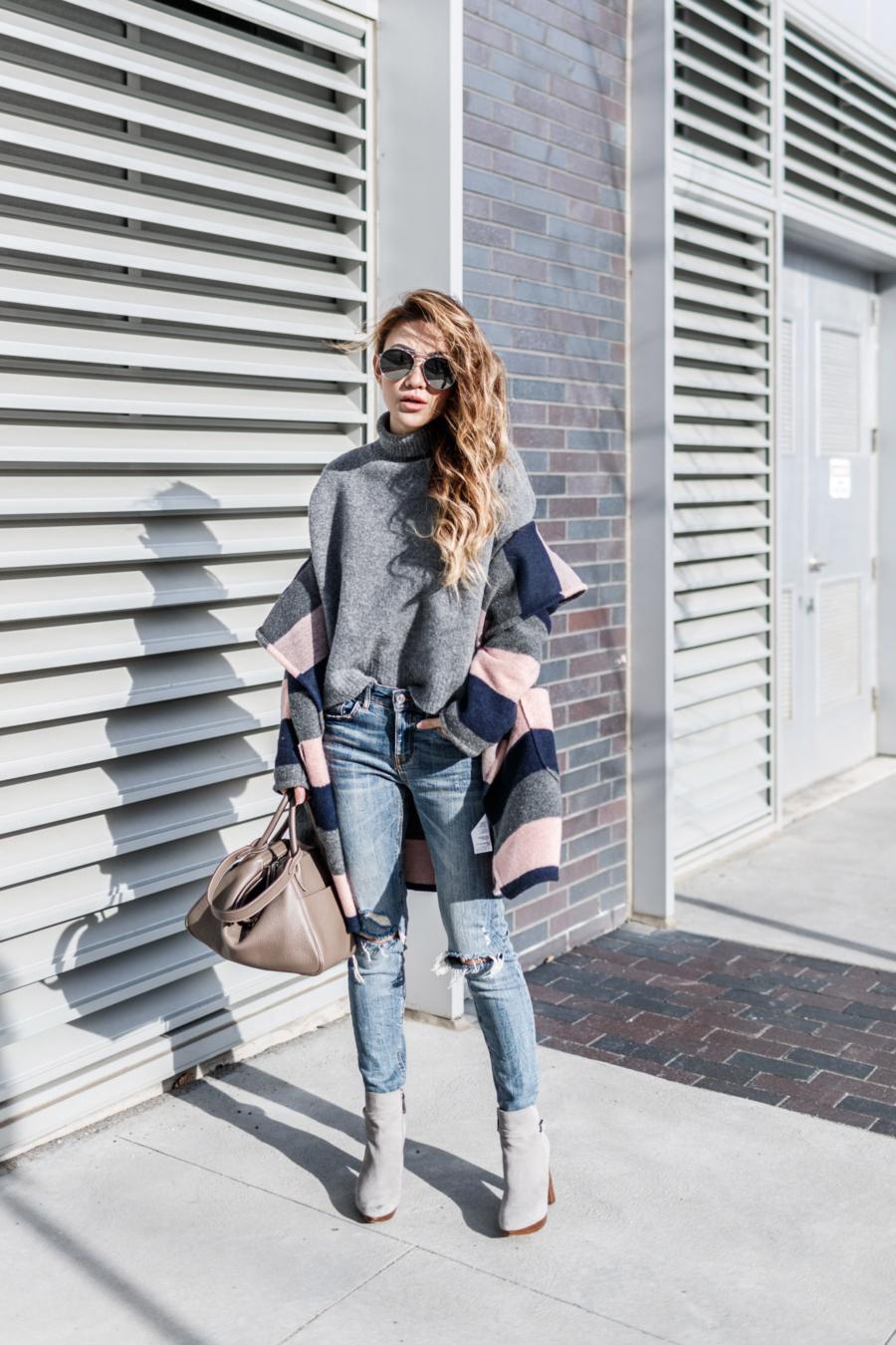 Blanket Coat Winter Outfits // NotJessFashion.com