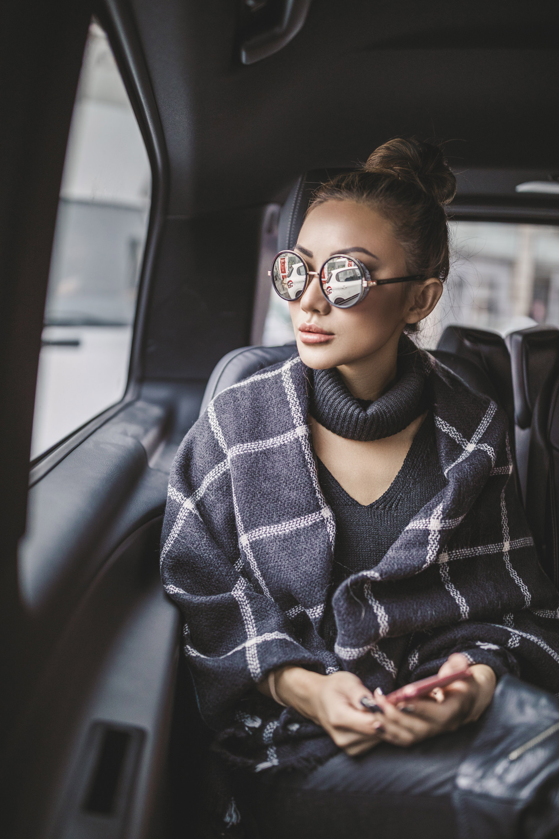 Checkered Blanket Scarf Winter Outfits // NotJessFashion.com