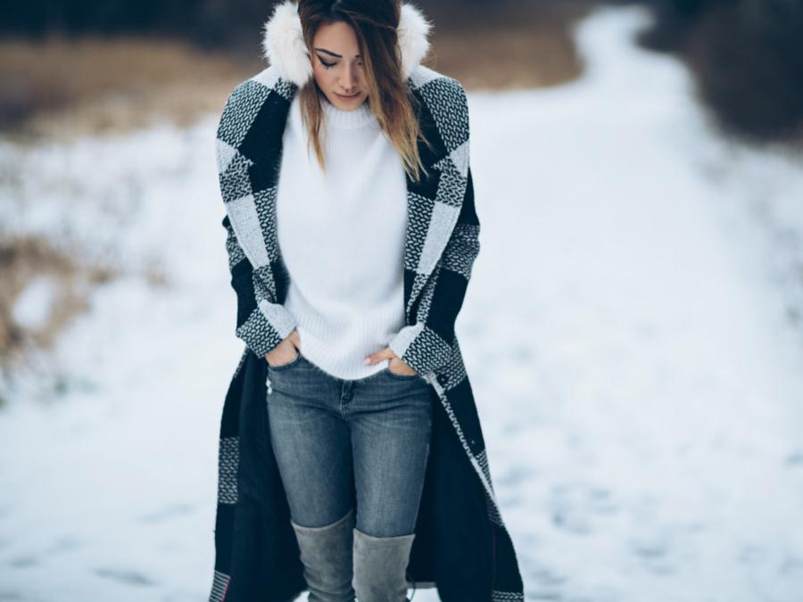 Fuzzy Ear Muffs Winter Outfits // NotJessFashion.com