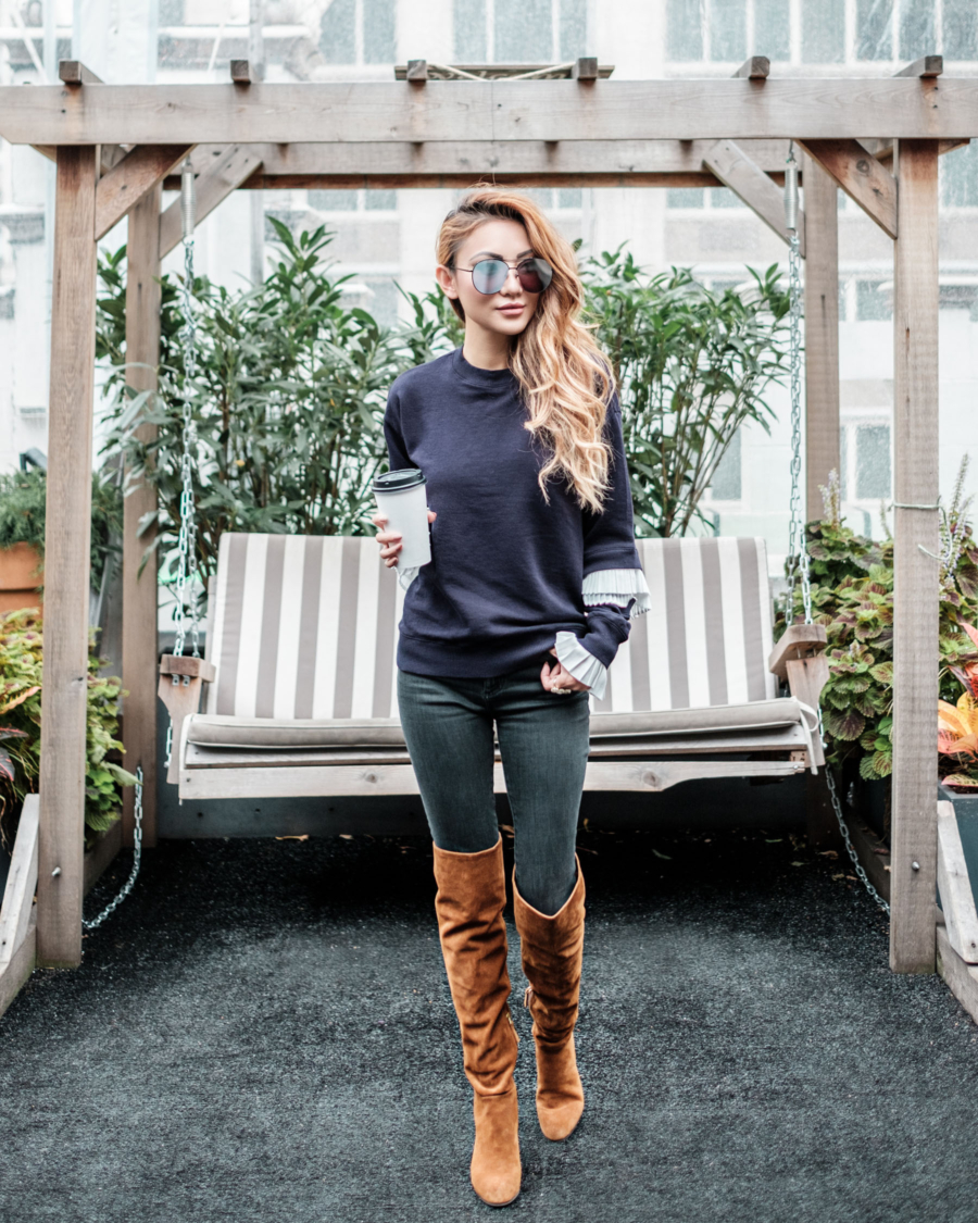 OTK Over the Knee Boots Winter Outfits // NotJessFashion.com