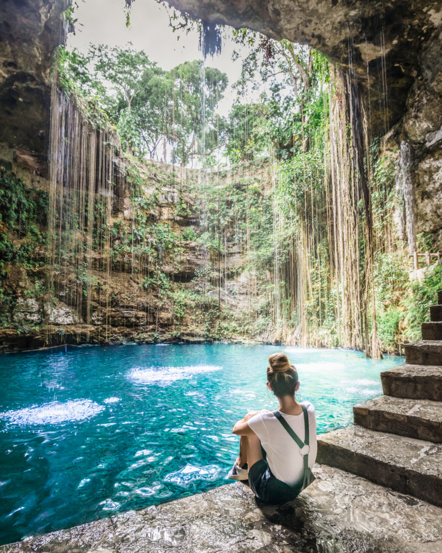 Safety Tips When Traveling to Mexico - chichen itza cenote ik kil // notjessfashion.com