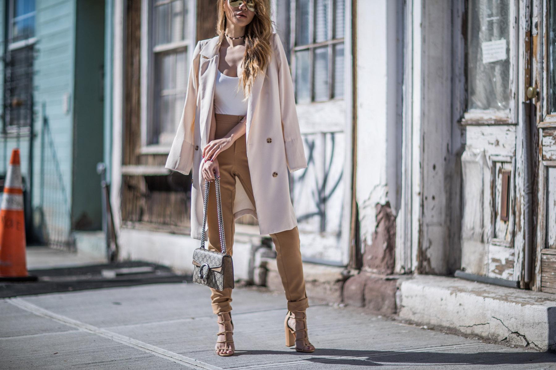 Chicwish 7 Ways to Style a Blazer, summer fashion staples, beige blazer // NotJessFashion.com