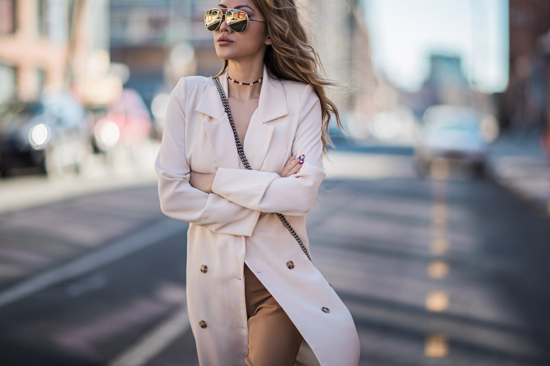 Double Breasted White Blazer // NotJessFashion.com