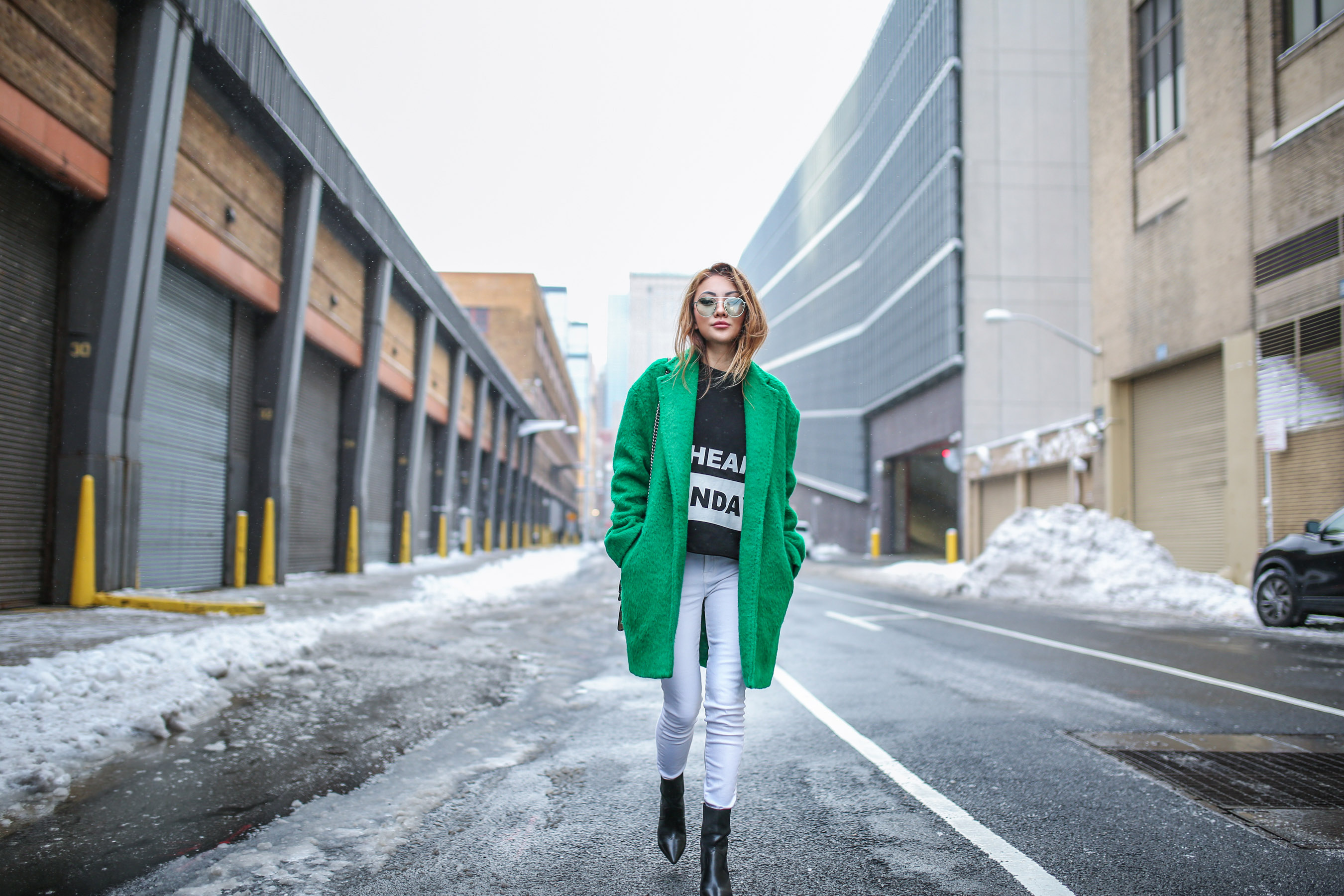 Essential Winter Coats Every Girl Should Own - Green Fuzzy Coat // NotJessFashion.com
