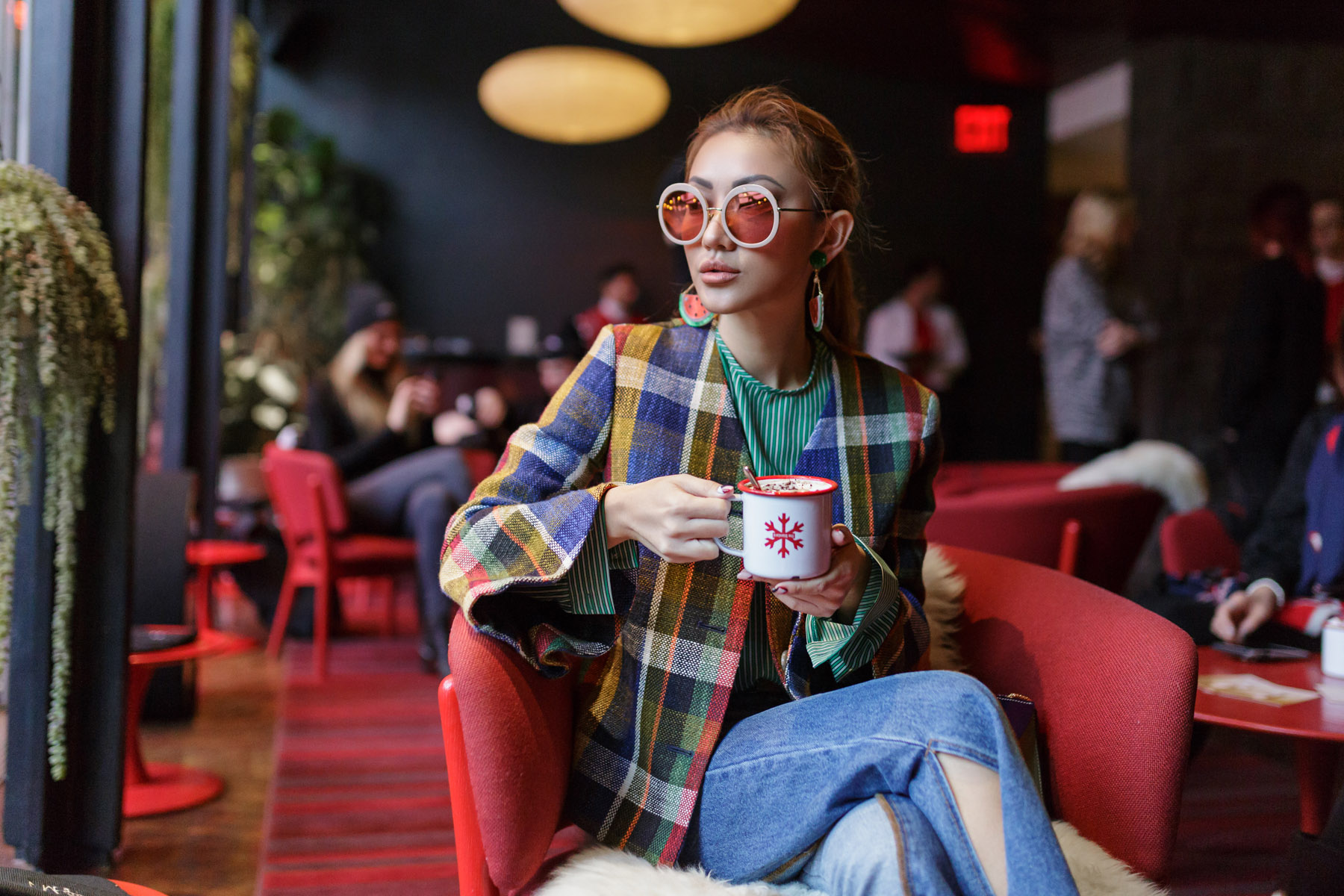 Spring Transitional Jackets - Suno Plaid Jacket Zara Suede Booties // NotJessFashion.com