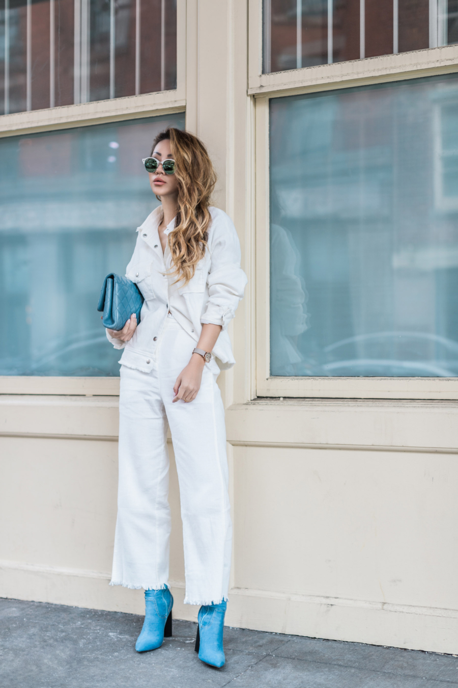 My Favorite Summer Styles To Shop - white culottes, summer denim style, white denim, white denim culottes // Notjessfashion.com