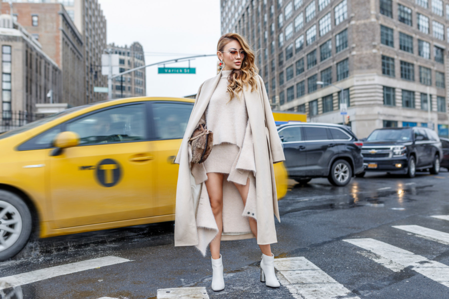 Monochrome Look Ayr Camel Coat Senso Booties // NotJessFashion.com