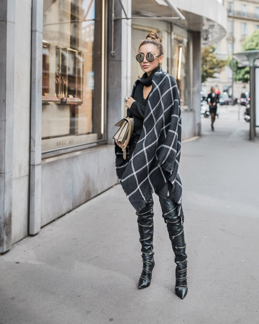 THIGHHIGH BOOTS - Tips for Styling Thigh High Boots - OTK boots with exposed zippers // Notjessfashion.com