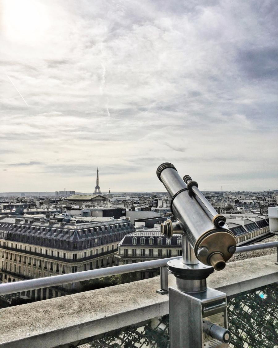 View from Rooftop - Galeries Lafayette Haussmann, Paris // NotJessFashion.com