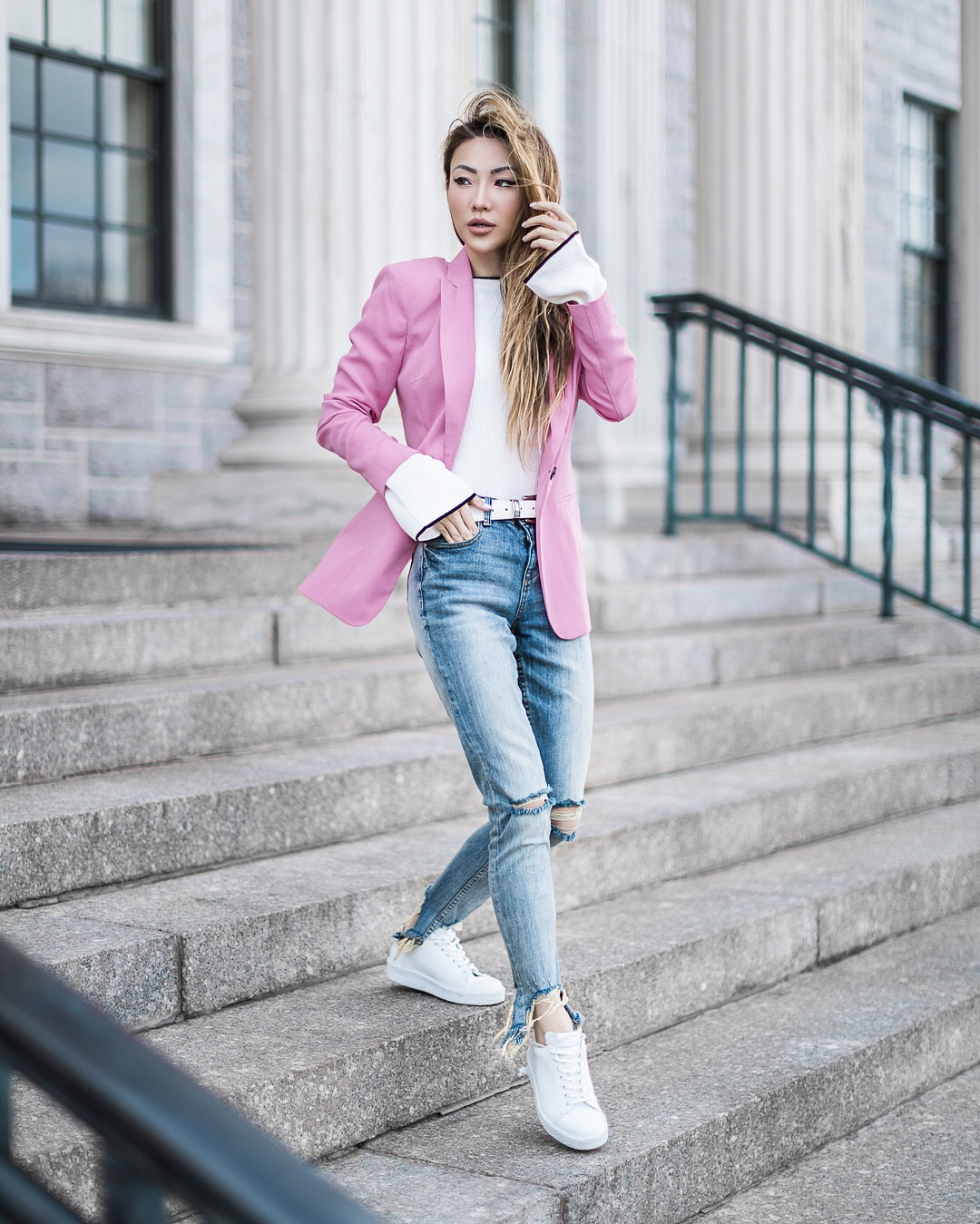 Pink Blazer - 9 Looks that Seamlessly Transition from Winter to Spring // NotJessFashion.com