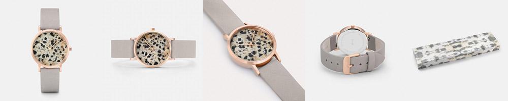 Cluse Watch, La Roche Petite Rose Gold Dalmatian/Grey // NotJessFashion.com