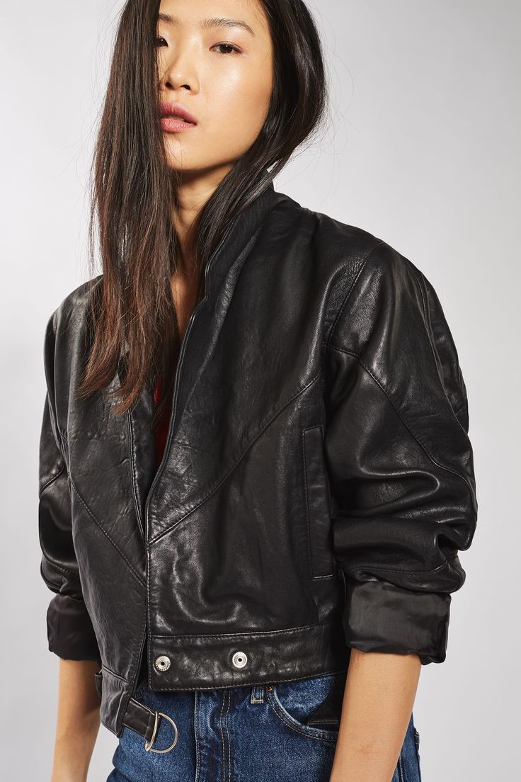 Cropped Leather Jacket - 9 Leather Jacket Styles You'll Be Seeing All Spring // Notjessfashion.com