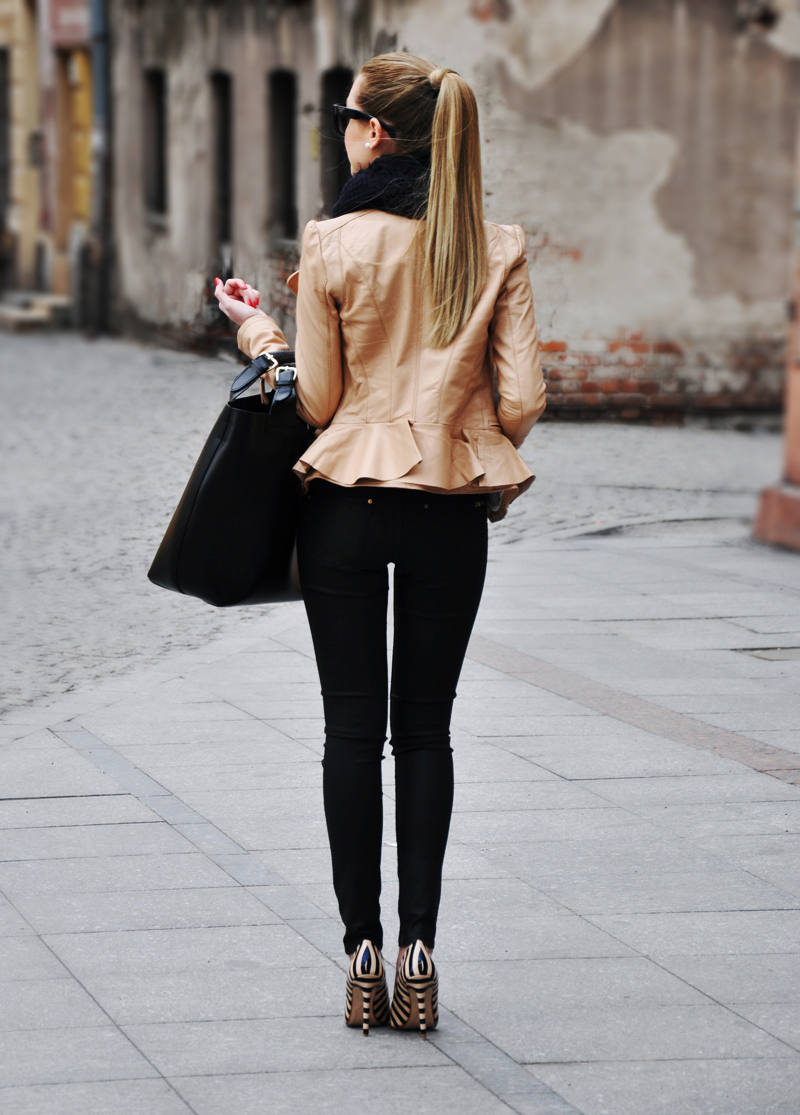 Peplum Leather Jacket - 9 Leather Jacket Styles You'll Be Seeing All Spring // Notjessfashion.com