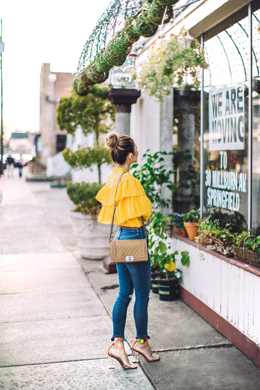 Yellow Ruffle Top - The Key to Pulling Off The Bold Ruffles Trend // Notjessfashion.com