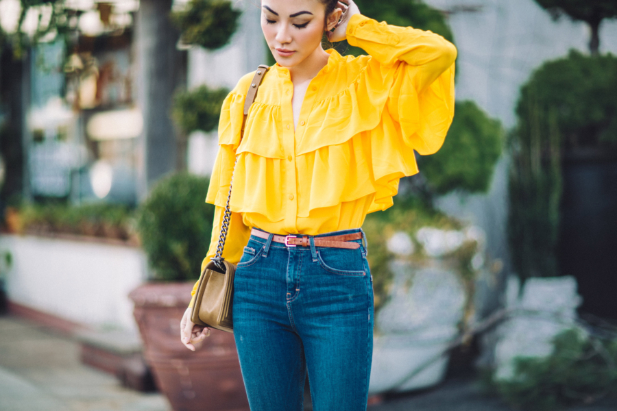Yellow Ruffles - 6 Ways To Wear Summer's Hottest Color: Yellow // NotJessFashion.com