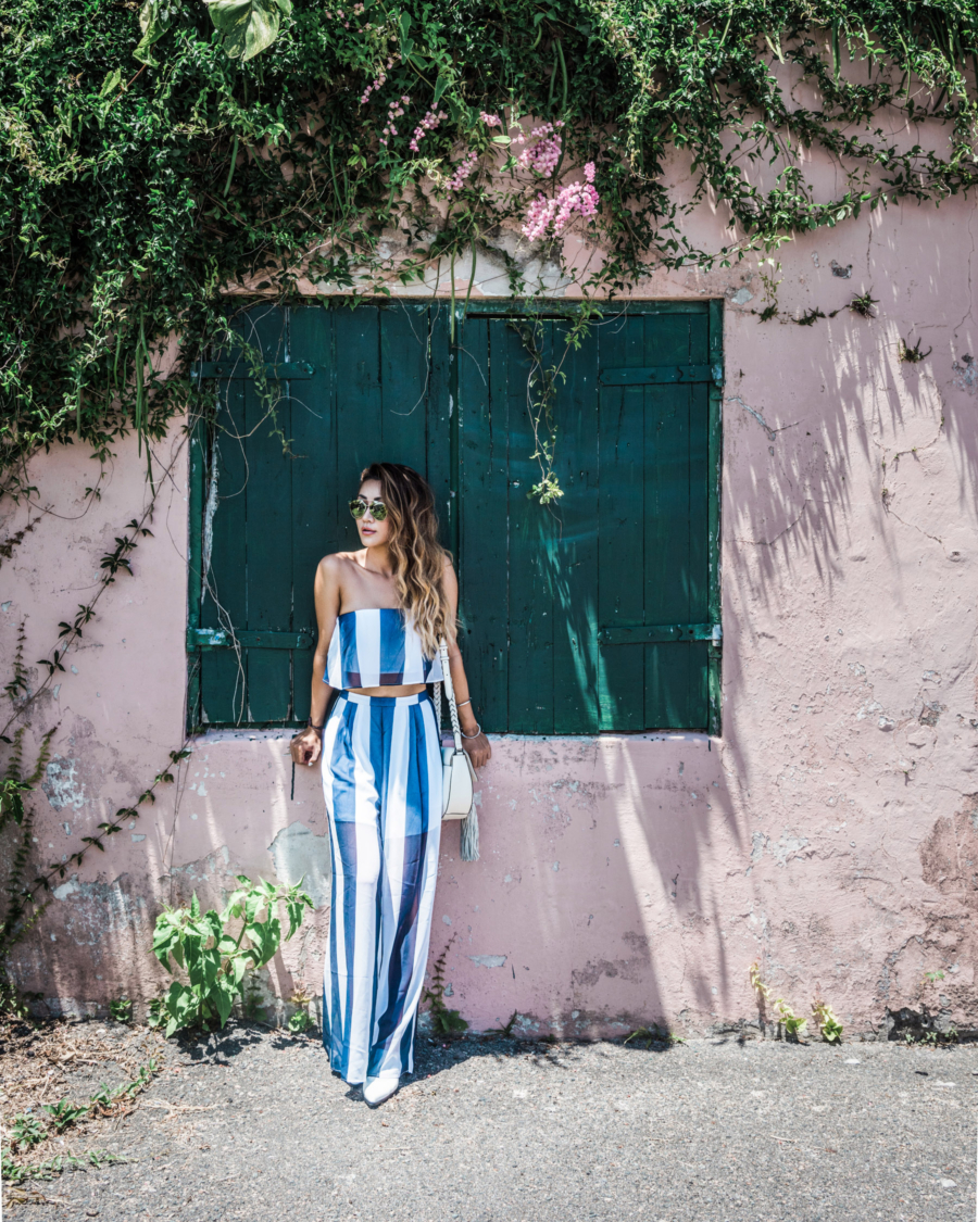 Step Up Your OOTD Photography with These Summer Outfit Details - matching set for summer, stripe matching set, sheer skirt outfit, cute beach looks // Notjessfashion.com