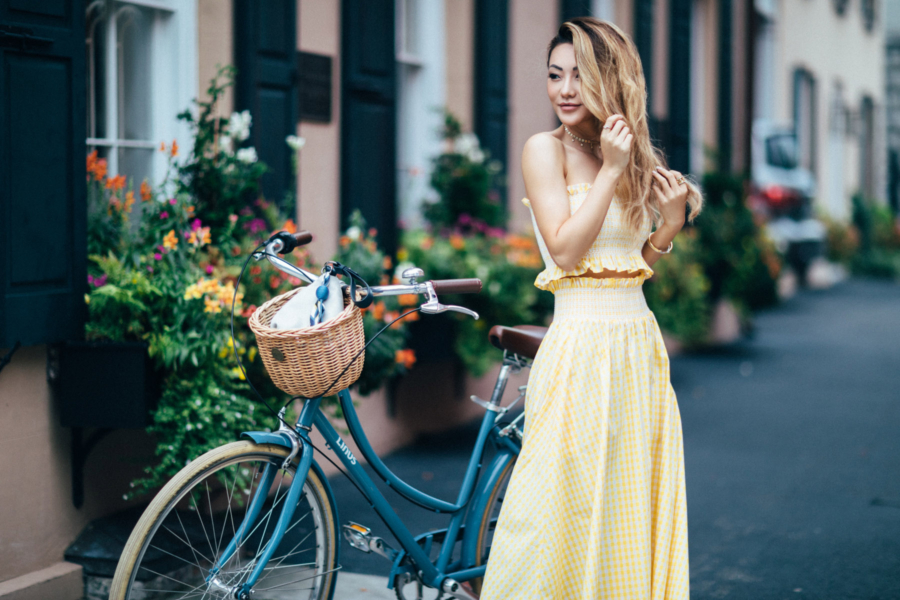 Matching Yellow Gingham Set - Travel Guide: 36 hours in Charleston, SC // NotJessFashion.com