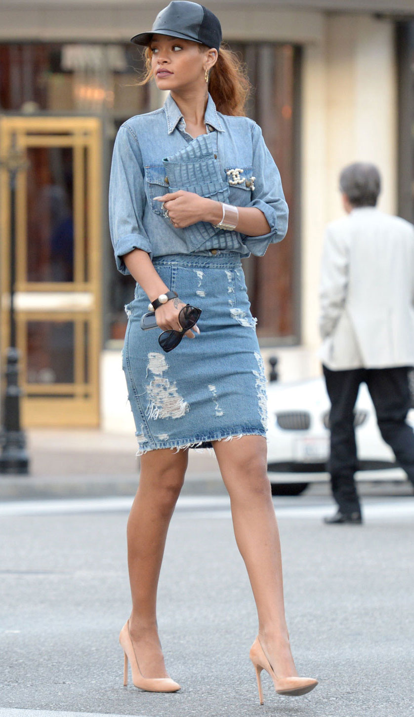 Denim Top and Skirt - Ultra Chic On-The-Go Styles For Every Girl // NotJessFashion.com