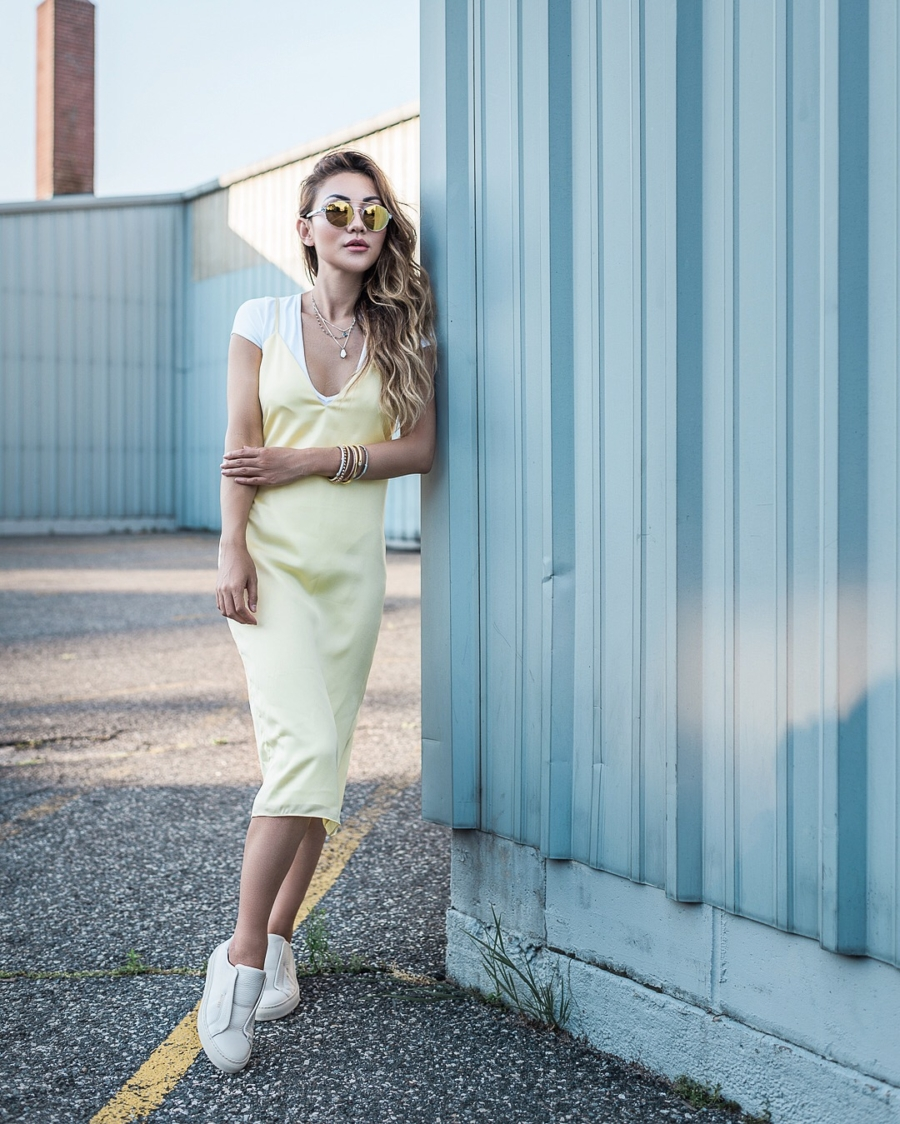 5 Things I Wish I Knew Before Starting a Blog - Slip Dress and Shirt // NotJessFashion.com