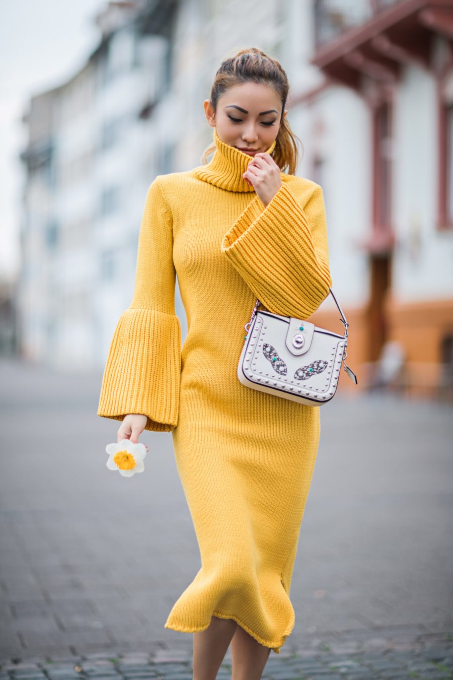 Yellow Knit Dress - Design Genius and the Dot that Changed the Face of Time, Movado // Notjessfashion.com