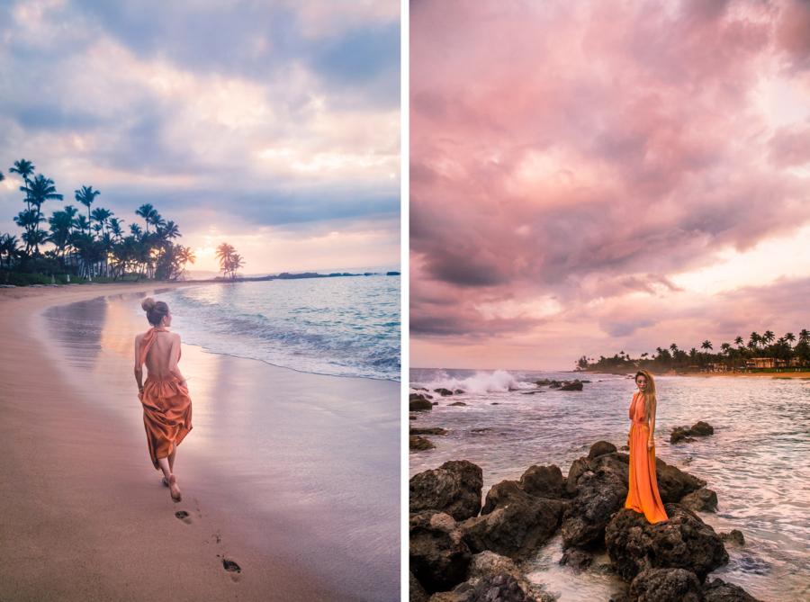 Orange Dress Sunset Dorado Beach - Discover Puerto Rico's Best Kept Secret // NotJessFashion.com