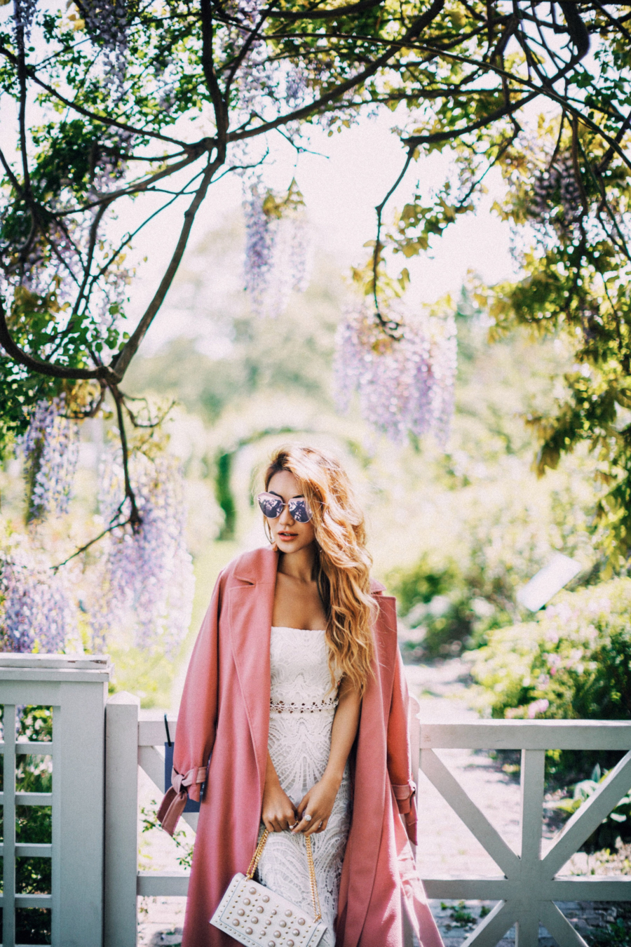 Pink White Outfit - 9 Fresh Ways To Style Your Favorite Trench Coat For Any Occasion This Spring // NotJessFashion.com