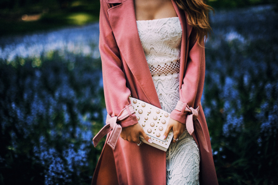 River Island Pink Trench with Contrast Details - 9 Fresh Ways To Style Your Favorite Trench Coat For Any Occasion This Spring // NotJessFashion.com