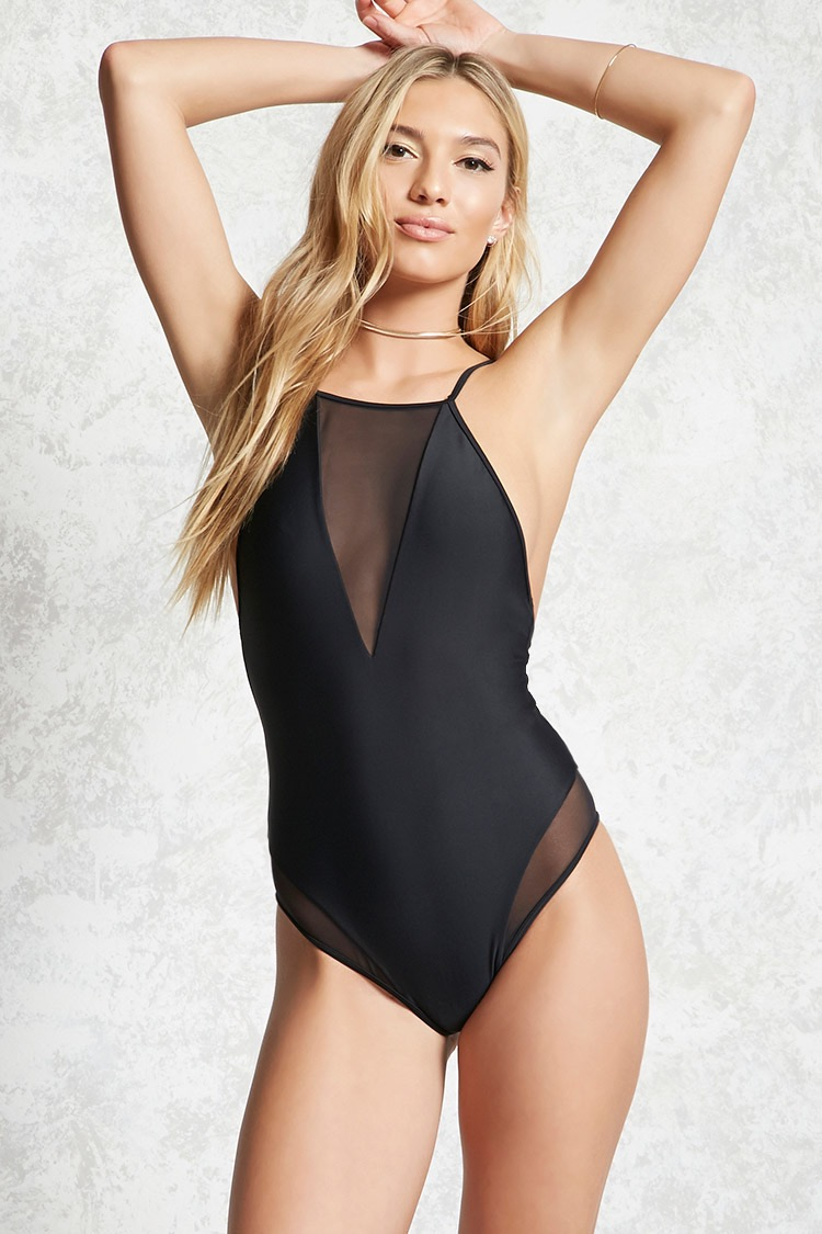 Sheer Panel One-Piece - One-Piece Swimsuits That Are Sexier Than A Bikini // Notjessfashion.com