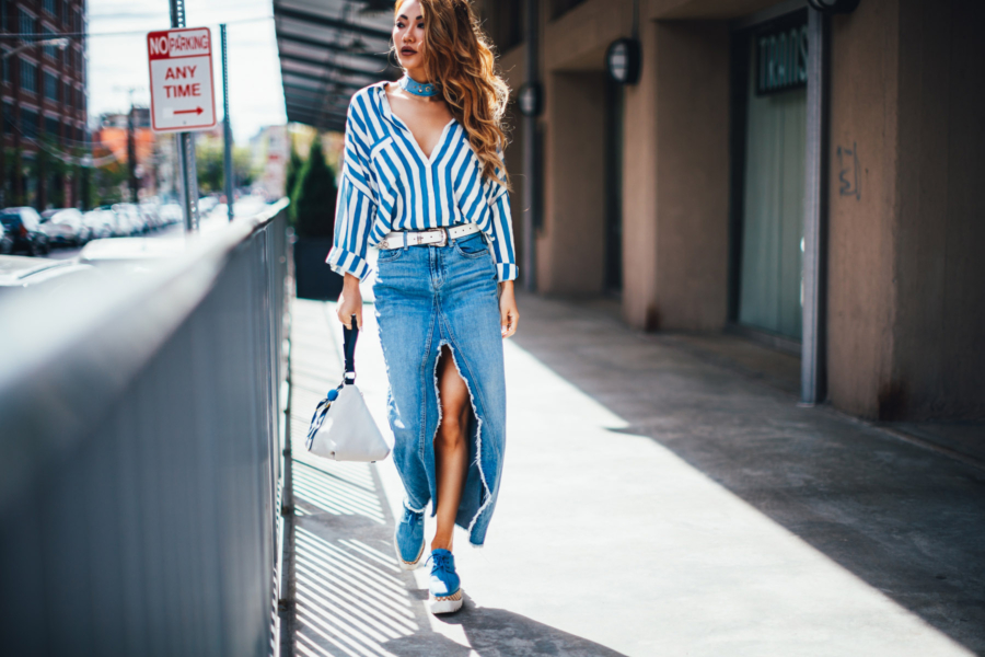 Blue Stripes and Denim - The Essential Guide to Pulling Off Summer Stripes // NotJessFashion.com