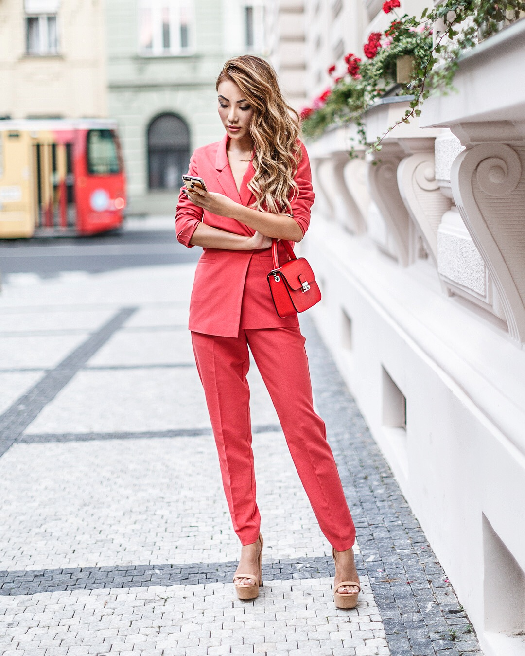 Pieces that Will Make You Look More Expensive - Red Pant Suit // Notjessfashion.com