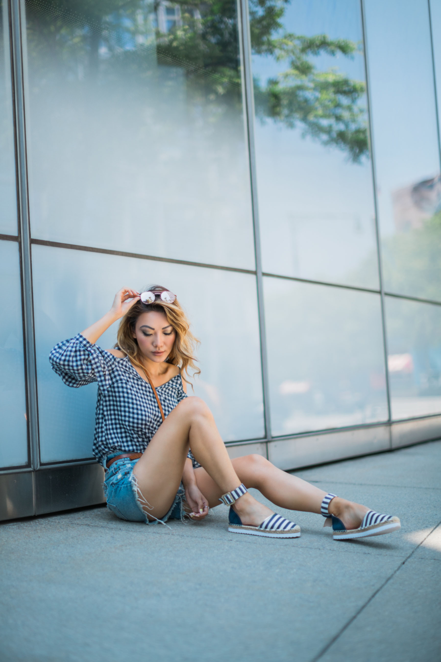 Black and white gingham and stripes - 5 Updated Gingham Trends You'll Love For Summer // NotJessFashion.com