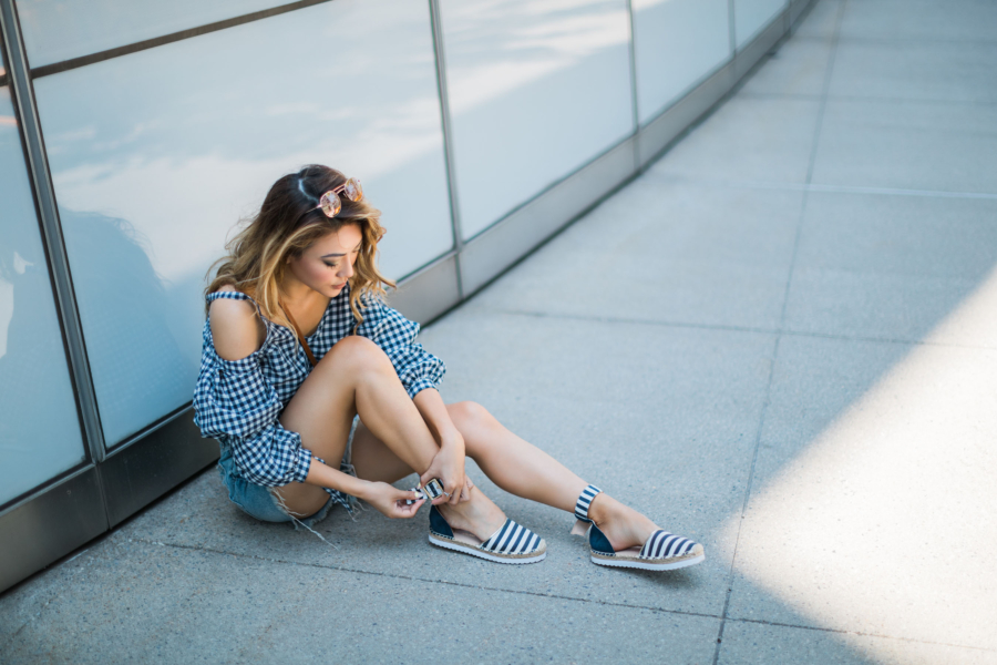 Gingham and stripes - 5 Updated Gingham Trends You'll Love For Summer // NotJessFashion.com