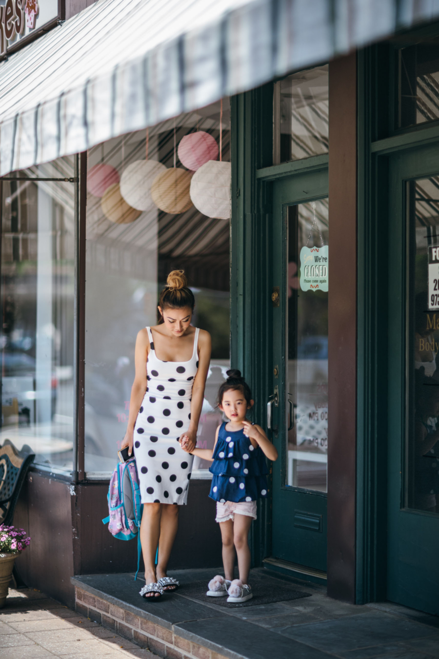 How to Balance Blogging and Motherhood - white Polka-dots dress - Summer Trend Spotting: Polka-dots // NotJessFashion.com