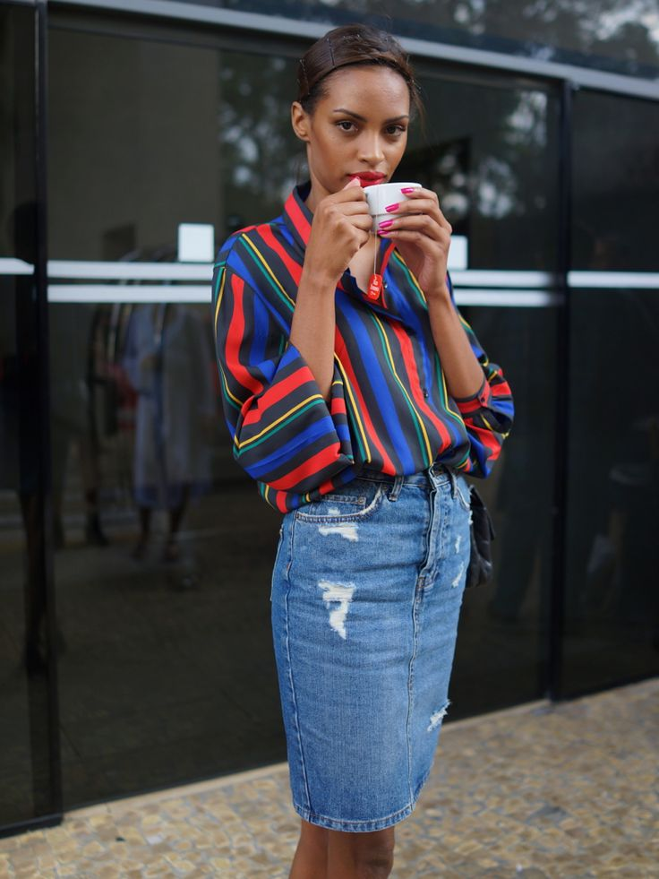 Blouse and Knee Length Skirt - Summer Work Outfits That Won't Make You Break A Sweat // NotJessFashion.com