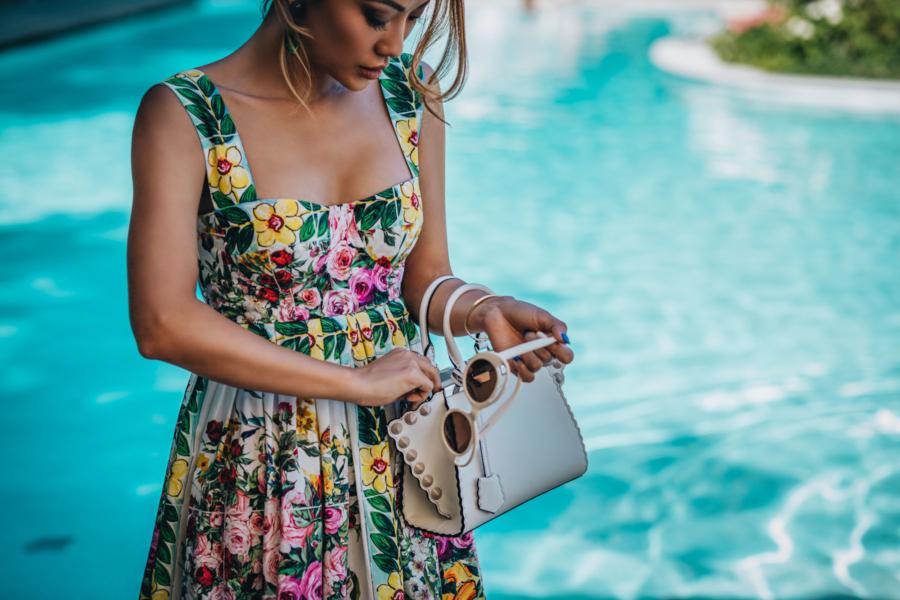 5 Floral Prints Perfect for Summer Dressing - Dolce & Gabbana floral dress, Fendi 3Jours handbag // Notjessfashion.com