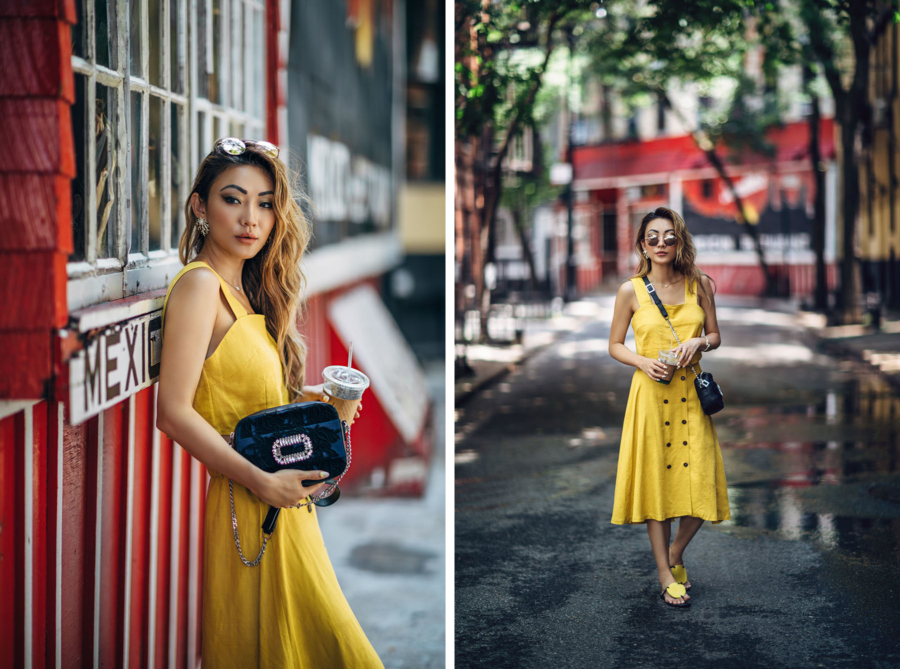 Yellow Dress and Roger Vivier Crossbody - Perfect Yellow Dresses For All Your Summer Weekends // NotJessFashion