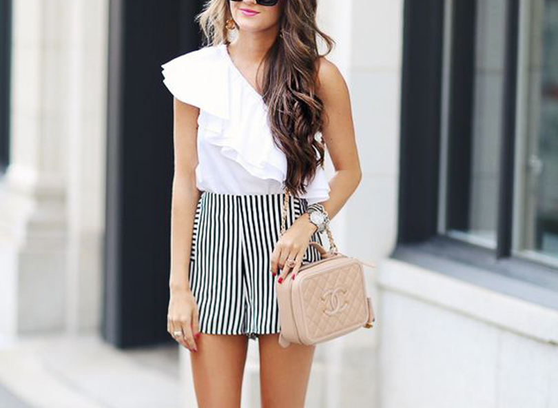 Ruffle Top and Tailored Shorts - Summer Work Outfits That Won't Make You Break A Sweat // NotJessFashion.com