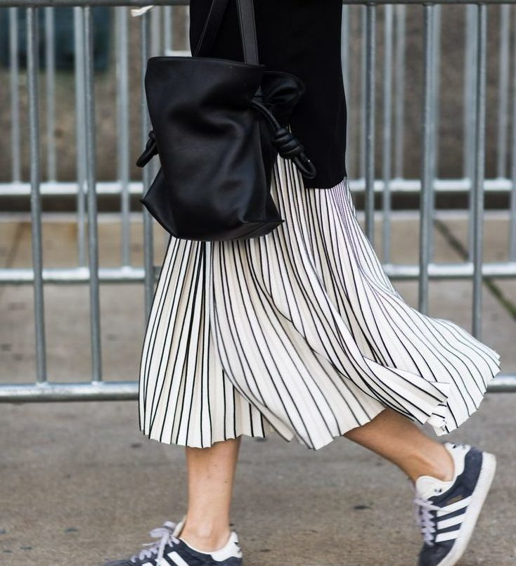 Striped skirt - Banker Stripes Are The New Basics // Notjesfashion.com