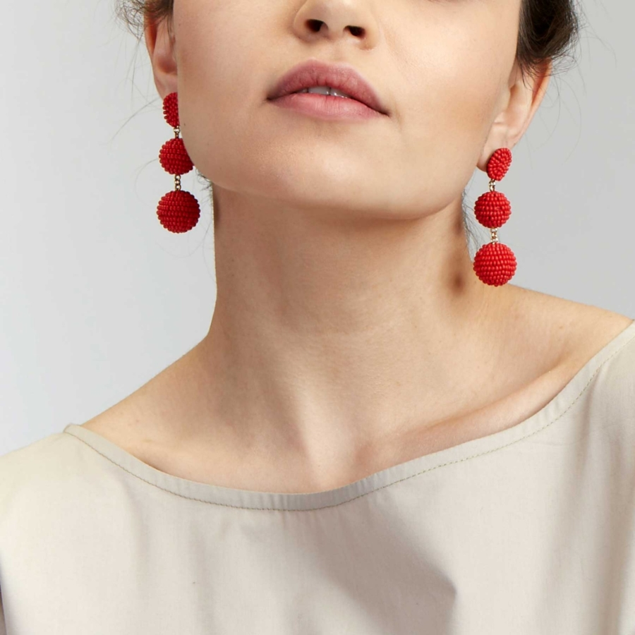 Bon Bon Earrings - 5 Colorful Statement Earrings for Lazy Days // NotJessFashion.com