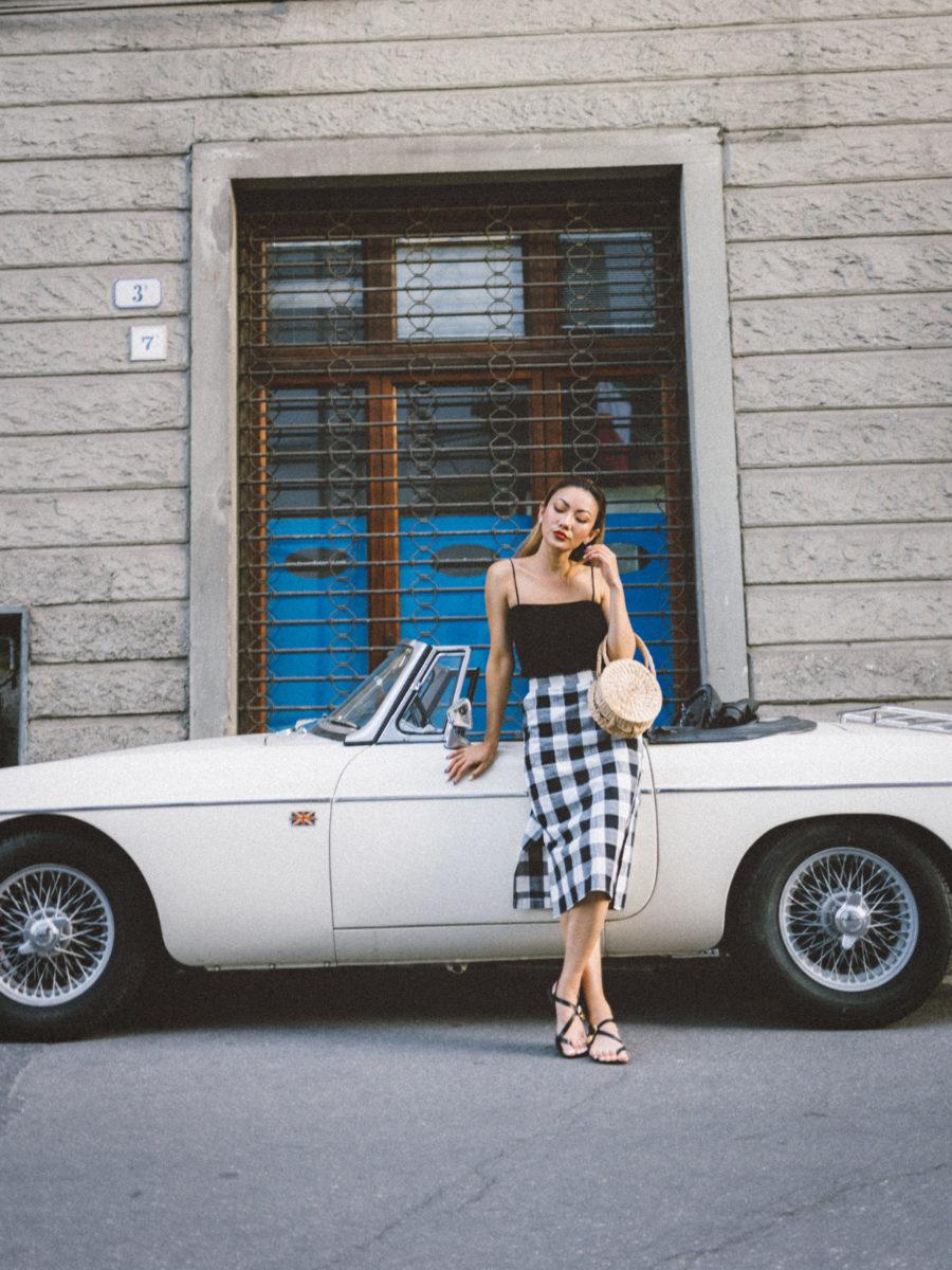 Checkered Skirt Styled // NotJessFashion.com