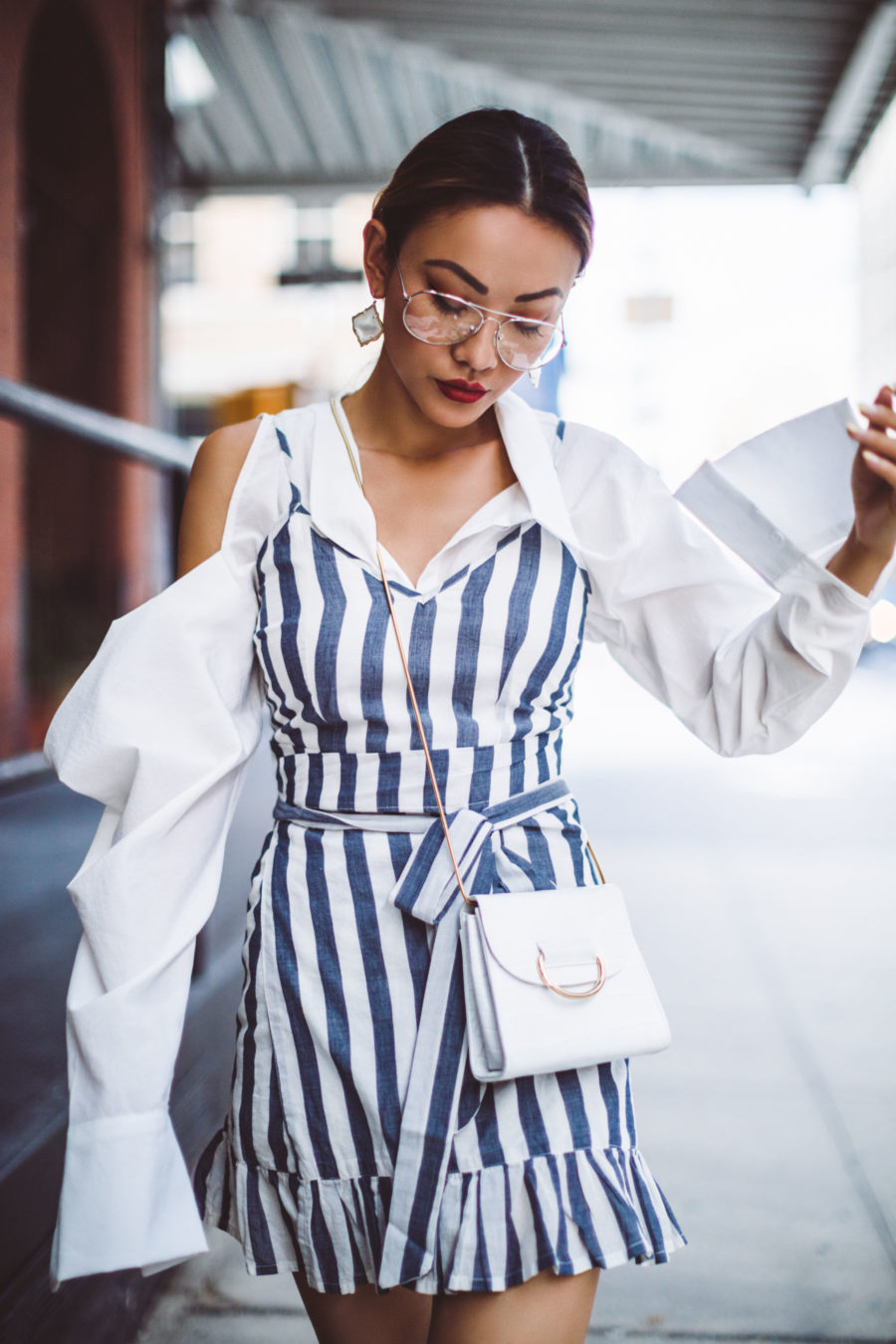 Step Up Your OOTD Photography with These Summer Outfit Details - deconstructed shirt trend, summer layering outfits // Notjessfashion.com