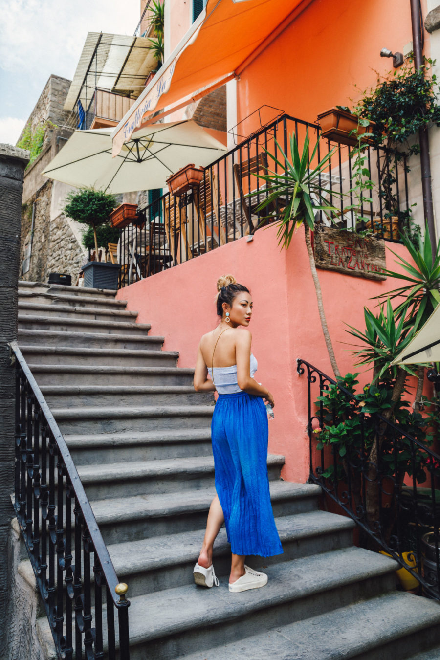 Fresh Outfit Ideas for Memorial Day Weekend - tube top with bright maxi skirt and sneakers, summer outfits // Notjessfashion.com