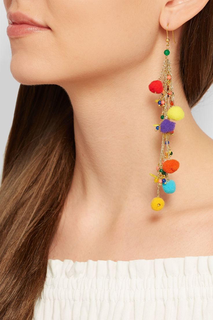 Pom Pom Earrings - 5 Colorful Statement Earrings for Lazy Days // NotJessFashion.com