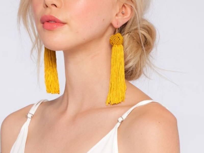 Tassel Earrings - 5 Colorful Statement Earrings for Lazy Days // NotJessFashion.com