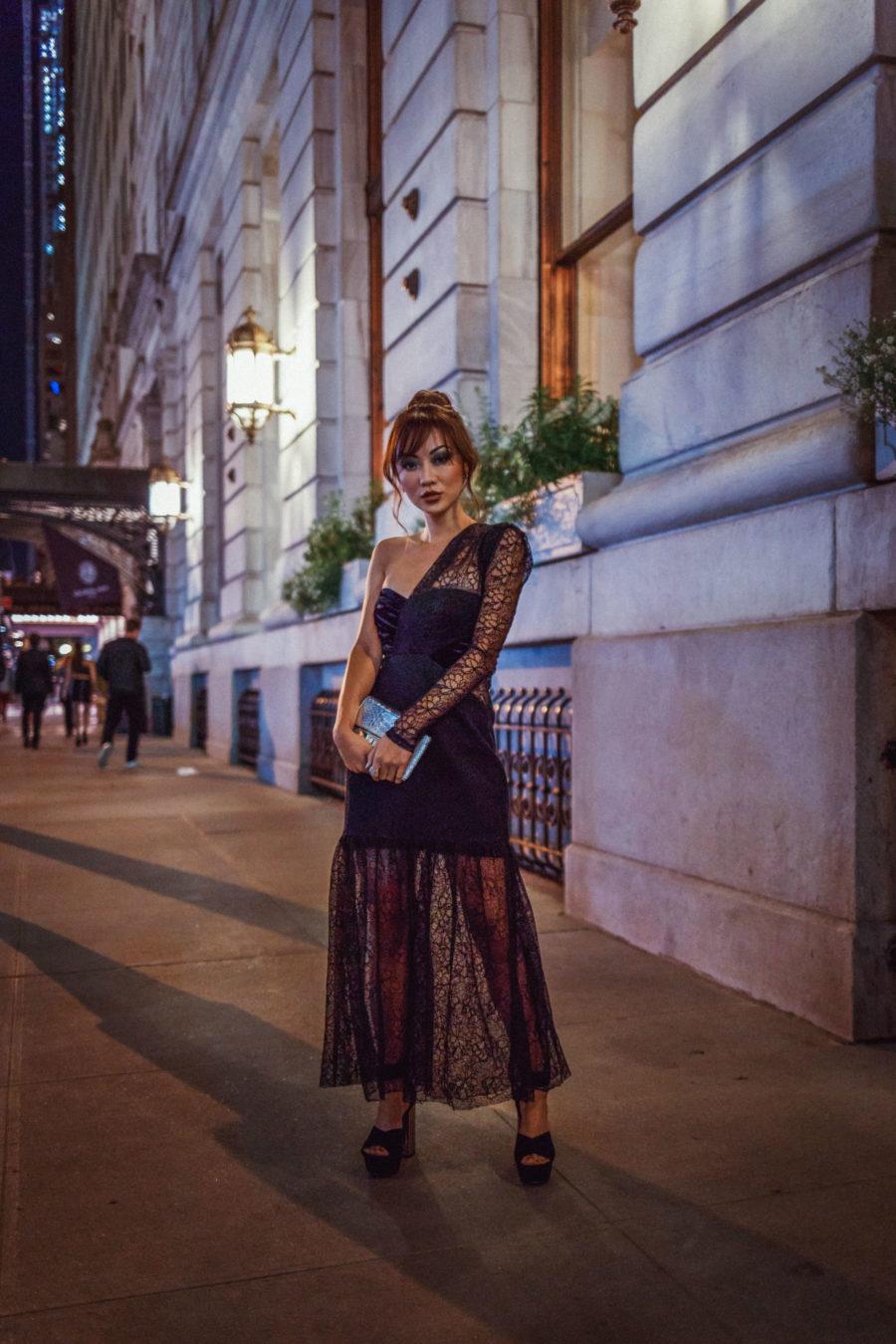 Harper's Bazaar Icons Party Black Lace Dress // NotJessFashion.com