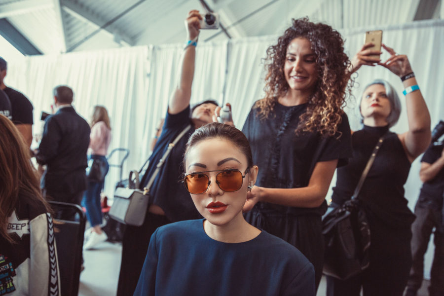 Aveda and Tibi Backstage NYFW Day 4 // NotJessFashion.com