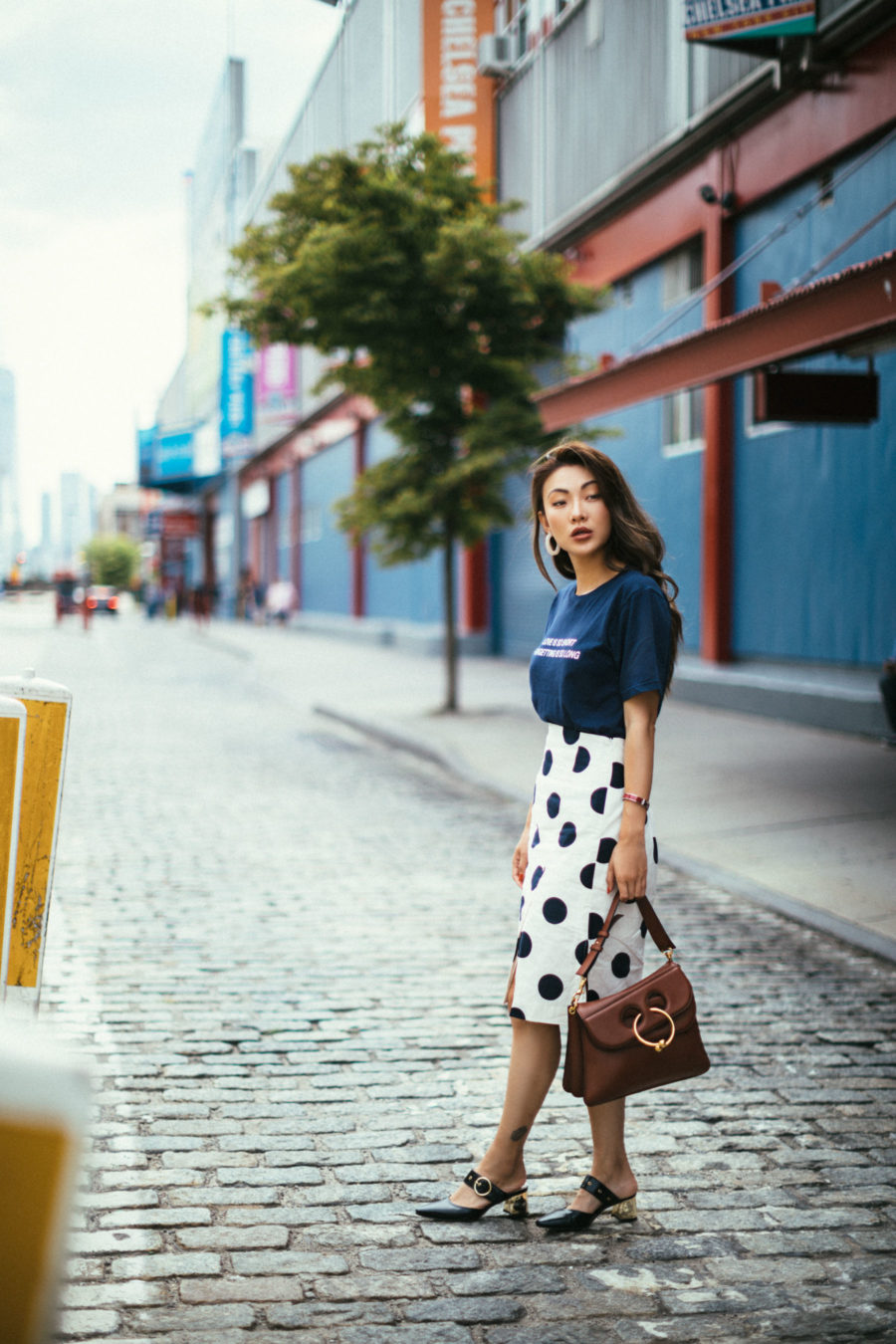 Stylish but Office Friendly Summer Outfit Ideas - polka dot skirt, pencil skirt, office outfit ideas // Notjessfashion.com